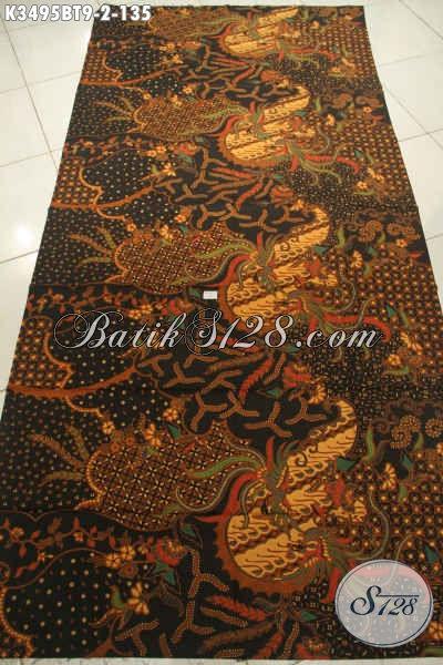 Kain Batik Solo Mewah Halus Harga Terjangkau, Batik Kain Istimewa Jenis Kombinasi Tulis Motif Elegan, Cocok Untuk Busana Kondangan Dan Seragam Kerja [K3495BT-240x110cm]