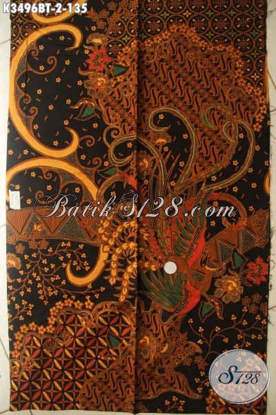 Sedia Kain Batik Istimewa Dengan Harga Biasa, Batik Kain Khas Solo Jawa Tengah Halus Jenis Kombinasi Tulis, Pas Untuk Baju Kerja Dan Acara Formal Tampil Menawan Hanya 100 Ribuan [K3496BT-240x110cm]