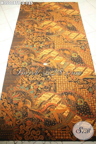 Kain Batik Solo Kombinasi Tulis Motif Mewah, Batik Halus Nan Istimewa Harga Terjangkau, Bahan Pakaian Formal Lengan Panjang Nan Berkelas Hanya 100 Ribuan [K3500BT-240x110cm]
