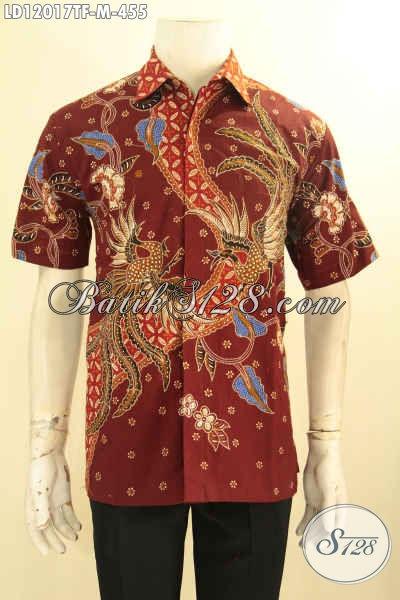 Kemeja Batik Lengan Pendek Istimewa Full Furing, Baju Batik Tulis Pria Muda Untuk Kerja Dan Kondangan Tampil Tampan [LD12017TF-M]