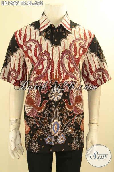 Olshop Pakaian Batik Pria Paling Lengkap Koleksinya, Sedia Kemeja Lengan Pendek Full Furing Nan Mewah Bahan Halus Motif Bagus Jenis Tulis, Pas Untuk Acara Santai Maupun Resmi