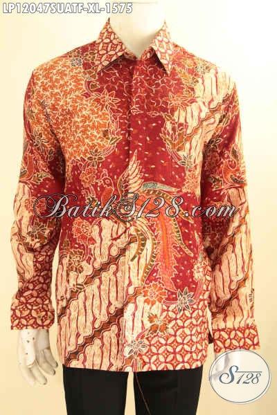 Busana Batik Premium Lengan Panjang Ukuran XL, Pakaian Batik Tulis Sutra Motif Terbaru Nan Berkelas Daleman Full Furing, Tampil Mewah Dan Percaya Diri
