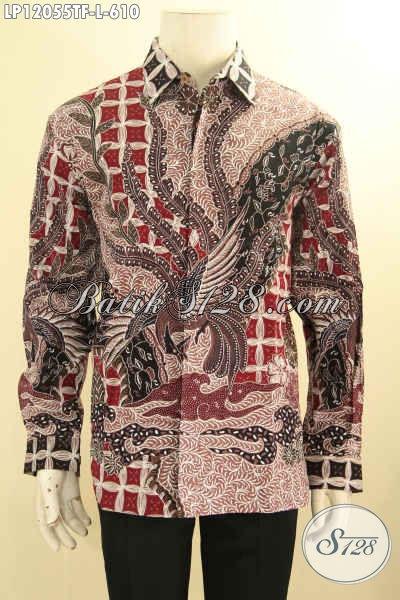 Kemeja Batik Solo Mahal Tulis Asli, Busana Batik Mewah Halus Lengan Panjang Full Furing Nan Istimewa Motif Terbaru Yang Menunjang Penampilan Gagah Dan Tampan Maksimal