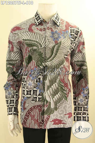Kemeja Batik Kerja Pria Model Lengan Panjang, Pakaian Batik Formal Acara Resmi Jenis Tulis Daleman Full Furing, Pakaian Batik Motif Mewah Untuk Penampilan Gagah Berkelas [LP12057TF-L]