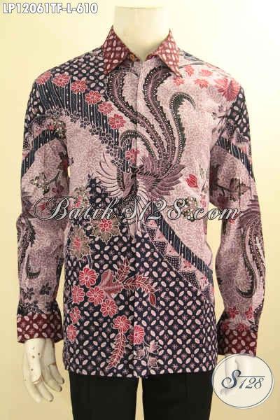 Jual Kemeja Batik Solo Istimewa, Pakaian Batik Mewah Lengan Panjang Full Furing Motif Terbaru Nan Elegan Proses Tulis Hanya 600 Ribuan