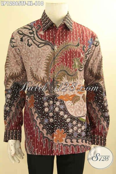 Kemeja Batik Pria Premium Lengan Panjang Full Furing, Baju Batik Solo Istimewa Motif Mewah Tulis Asli, Menunjang Penampilan Pria Gagah Berkelas Bak Pejabat