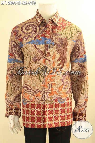 Jual Kemeja Lengan Panjang Batik Solo, Pakaian Batik Mewah Halus Daleman Full Furing Nan Mewah Berkelas, Baju Batik Istimewa Bikin Penampilan Sempurna