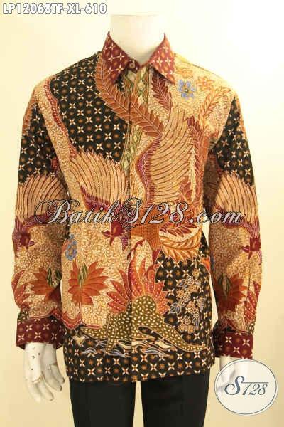 Koleksi Terbaru Kemeja Batik Pria Masa Kini, Batik Solo Elegan Model Lengan Panjang Daleman Full Furing Yang Bikin Penampilan Gagah Menawan