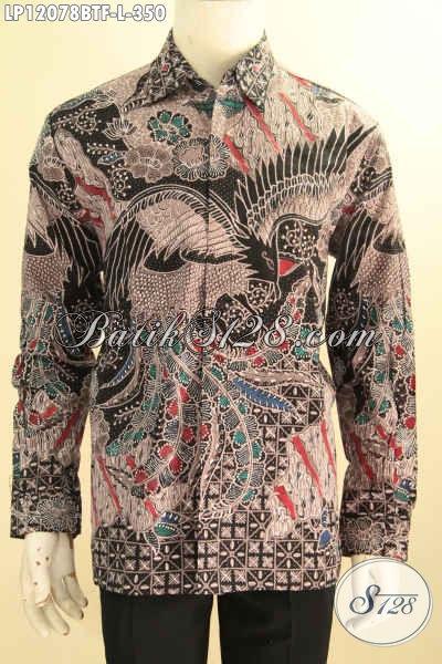 Baju Batik Formal Nan Istimewa, Pakaian Batik Solo Halus Lengan Panjang Full Furing Desain Mewah, Busana Batik Kombinasi Tulis Yang Bikin Pria Tampil Gagah Mempesona