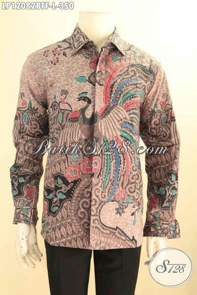 Kemeja Batik Ukuran L, Baju Batik Elegan Model Lengan Panjang Untuk Acara Resmi, Busana Batik Istimewa Motif Klasik Jenis Kombinasi Tulis Daleman Pakai Furing Hanya 300 Ribuan Saja