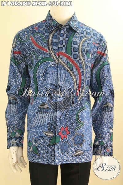 Baju Batik Elegan Lengan Panjang Full Furing, Pakaian Batik Solo Halus Motif Bagus Jenis Kombinasi Tulis, Tampil Gagah Dan Tampan