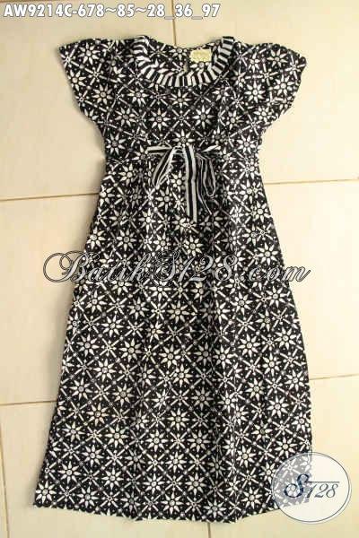 Model Baju Batik Anak Perempuan Terbaru Desain Trendy Warna Hitam