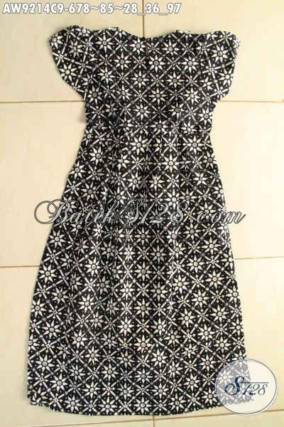 Model Baju Batik Anak Perempuan Terbaru Desain Trendy Warna Hitam Motif Klasik Kwalitas Istimewa Dengan Harga Terjangkau [AW9214C-Umur 6,7,8 Tahun]