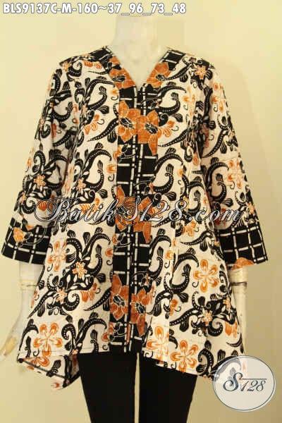 Jual Blouse Batik Wanita Size M, Hadir Dengan Desain Keren Motif Bagus Warna Berkelas Proses Cap, Istimewa Untuk Acara Resmi Maupun Santai