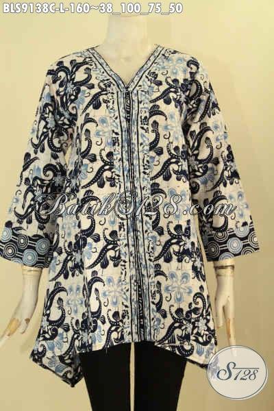 Pakaian Batik Wanita Modern Tren Masa Kini, Blouse Batik Solo Asli Motif Bagus Bahan Halus Jenis Cap, Pilihan Tepat Untuk Tampil Stylish