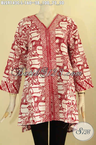 Toko Baju Batik Online Paling Komplit Koleksinya, Jual Blouse Wanita Muda Dan Dewasa Desain Keren Motif Elegan Warna Cerah, Cocok Buat Ngantor Maupun Acara Resmi