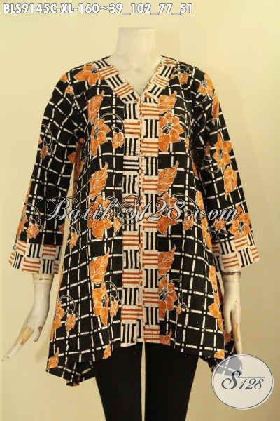 Batik Blouse Solo Spesial Untuk Wanita Dewasa Karir Aktif, Busana Batik Istimewa Desain Tren Masa Kini Motif Bagus Jenis Cap, Pilihan Tepat Untuk Tampil Cantik Menawan