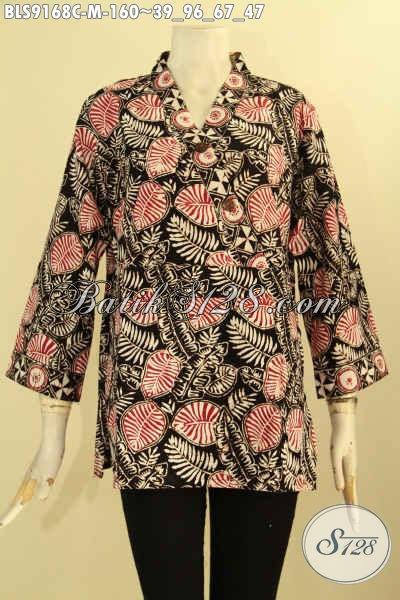 Produk Pakaian Batik Wanita Tren Masa Kini, Batik Blouse Halus Motif Bagus Jenis Cap, Istimewa Buat Ngantor Atau Acara Resmi, Tampil Lebih Percaya Diri [BLS9168C-M]