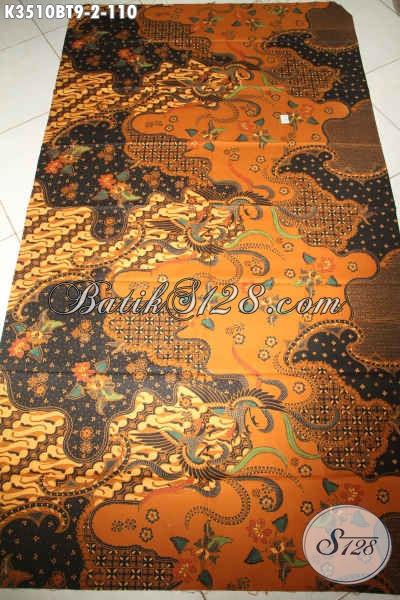 Kain Batik Solo Halus Bahan Busana Nan Elegan, Batik Kombinasi Tulis Motif Klasik Khas Solo Jawa Tengah Dengan Harga Terjangkau [K3510BT-200x110cm]
