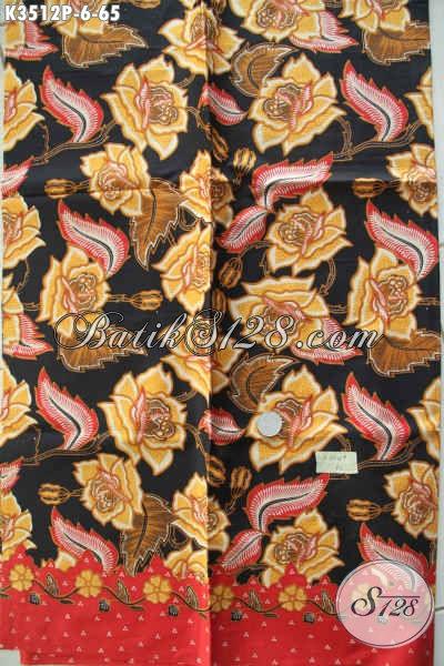 Kain Batik Bahan Busana Wanita Dan Pria Motif Terbaru Kwalitas Istimewa Jenis Printing Harga Murmer [K3512P-200x110cm]