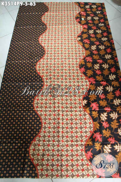 Sedia Kain Batik Solo Halus Motif Elegan Jenis Printing, Batik Istimewa Harga Murah Bahan Kemeja Pria Lengan Pendek [K3514P-200x110cm]