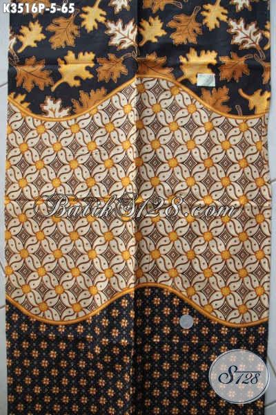 Koleksi Terkini Kain Batik Solo Halus Motif Elegan Jenis Printing, Batik Bahan Busana Kemeja Pria Lengan Pendek Cocok Acara Resmi [K3516P-200x110cm]