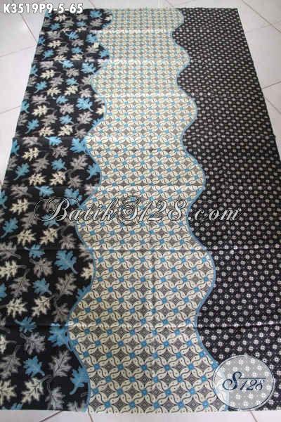 Jual Kain Batik Elegan Jenis Printing, Batik Solo Asli Motif Elegan, Pas Untuk Kemeja Pria Maupun Blouse Wanita [K3519P-200x110cm]