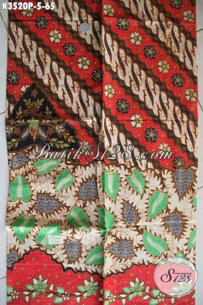 Kain Batik Printing Motif Elegan Klasik, Batik Solo Halus Kwalitas Istimewa Dengan Harga Yang Terjangkau Cocok Untuk Kemeja Pria Lengan Pendek [K3520P-200x110cm]