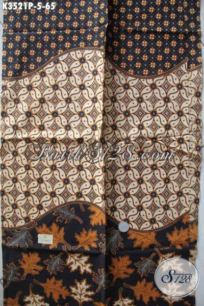 Sedia Kain Batik Bahan Busana Santai Maupun Resmi, Batik Solo Asli Jenis Printing Motif Elegan Dengan Sentuhan Klasik Hanya 60 Ribuan Saja [K3521P-200x110cm]