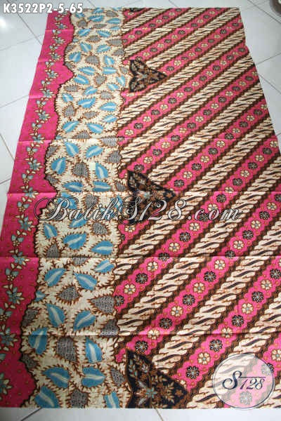 Kain Batik Halus Buatan Solo Asli, Batik Jawa Tengah Kekinian Motif Elegan Dengan Sentuhan Klasik, Pilihan Tepat Untuk Busana Nan Berkelas [K3522P-200x110cm]