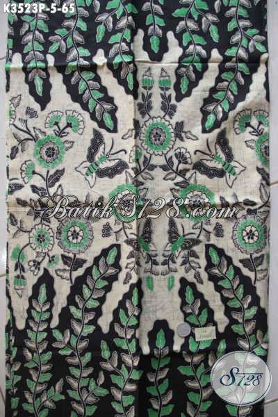 Kain Batik Istimewa Dengan Harga Biasa, Batik Solo Motif Bagus Tren Masa Kini Proses Printing, Cocok Untuk Busana Kerja Maupun Santai [K3523P-200x110cm]