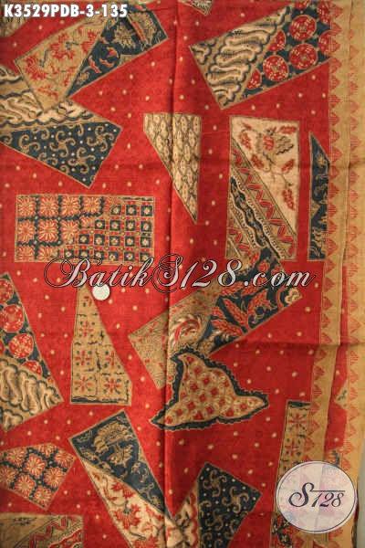 Batik Motif Kekinian Nan Trendy Dan Modis, Batik Printing Dolby Kwalitas Istimewa Bahan Aneka Busana Wanita Pria Nan Modis Dan Berkelas [K3529PDB-240x110cm]