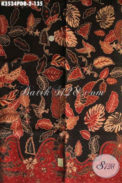 Batik Solo Modern Kwalitas Istimewa, Kain Batik Print Dolby Halus Motif Terbaru Bahan Pakaian Wanita Maupun Pria Untuk Kerja Kantoran [K3534PDB-240x110cm]