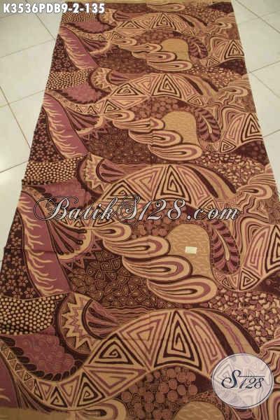 Kain Batik Elegan Motif Unik, Batik Solo Print Dolby Kwalitas Bagus Dan Halus Bisa Untuk Aneka Busana Pria Maupun Wanita Yang Bikin Penampilan Lebih Berkelas [K3536PDB-240x110cm]