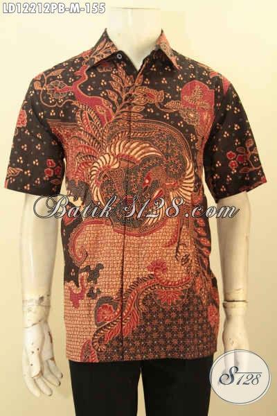 Baju Batik Atasan Pria Muda Model Lengan Pendek Hem Batik Solo