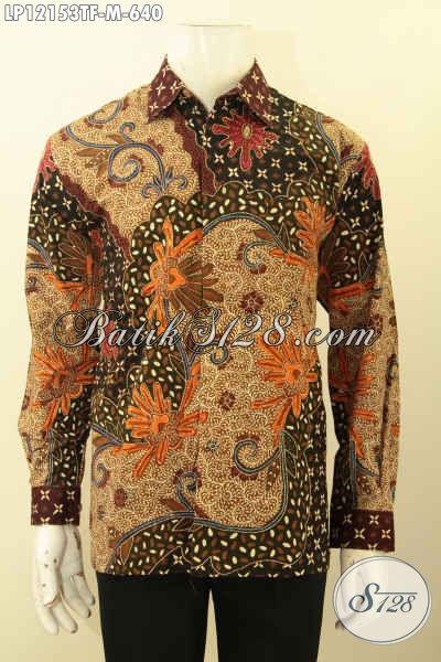 Baju Batik Kawula Muda Mewah Lengan Panjang Full Fruing, Busana Batik Elegan Motif Terbaru Jenis Tulis Lasem, Menunjang Penampilan Lebih Sempurna [LP12153TF-M]