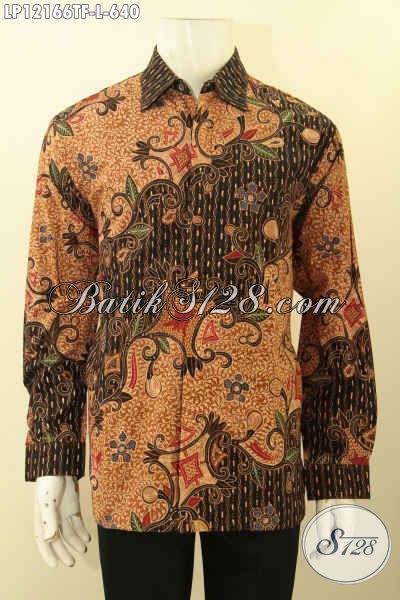 Baju Batik Motif Dan Desain Terbaru Lebih Mewah Dan Berkelas Jenis Tulis Lasem, Kemeja Batik Premium Full Furing Lengan Panjang, Pas Untuk Acara Resmi Tampil Mempesona [LP12166TF-L]