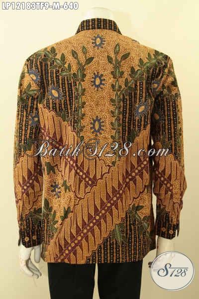 Produk Terkini Busana Batik Pria Lengan Panjang Full Furing, Kemeja Batik Premium Motif Elegan Jenis Tulis Lasem, Pilihan Terbaik Untuk Kerja Dan Acara Formal Tampil Berkelas [LP12183TF-M]