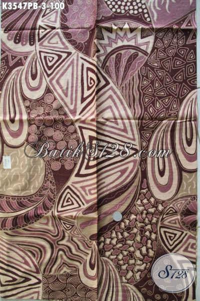 Kain Batik Motif Modern Nan Berkelas, Batik Halus Dan Istimewa Proses Printing Cabut Asli Buatan Solo, Bisa Untuk Pakaian Wanita Maupun Pria [K3547PB-240x110cm]