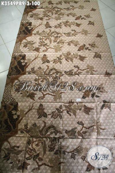 Produk Terbaru Kain Batik Solo Jawa Tengah, Kain Batik Motif Elegan Kwalitas Istimewa Jenis Printing Cabut, Cocok Untuk Pakaian Kerja Maupun Busana Kondangan [K3549PB-240x110cm]
