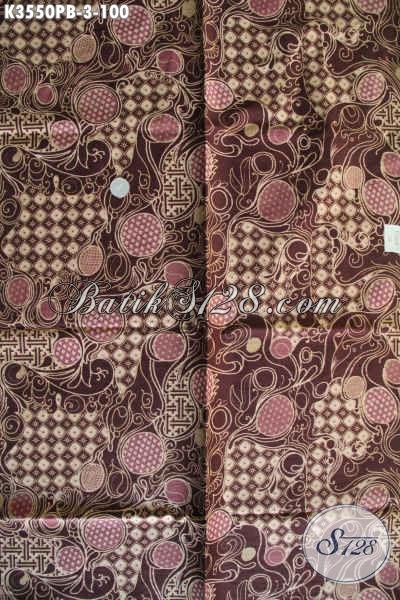 Kain Batik Bagus Buatan Solo Asli, Batik Halus Motif Kekinian Kwalitas Istimewa Proses Printing Cabut, Bisa Untuk Seragam Kerja Maupun Busana Resmi [K3550PB-240x110cm]