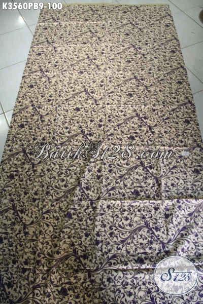 Kain Batik Istimewa Khas Jawa Tengah, Batik Solo Halus Motif Terkini Proses Printing Cabut, Bahan Busana Terbaik Dengan Harga Terjangkau [K3560PB-240x110cm]