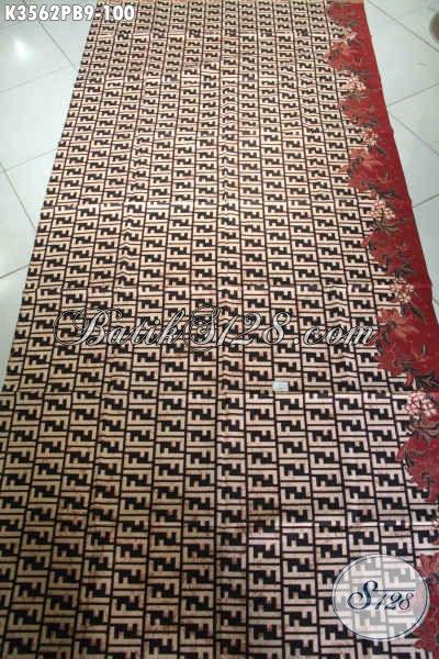 Sedia Kain Batik Solo Kwalitas Istimewa Bahan Kemeja Pria Nan Trendy, Batik Printing Cabut Halus Motif Unik, Cocok Juga Untuk Pakaian Wanita [K3562PB-240x110cm]