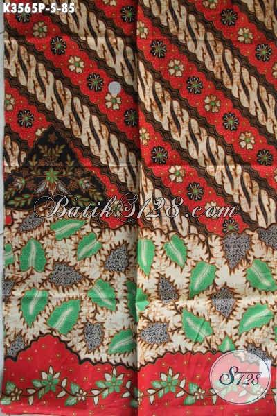 Kain Batik Printing Motif Modern Klasik, Batik Solo Asli Warna Berkelas Bahan Aneka Busana Masa Kini [K3565P-240x110cm]