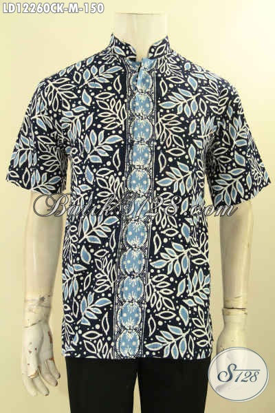 Olshop Pakaian Batik Terlengkap, Sedia Kemeja Batik Pria Kerah Shanghai Lengan Pendek Keren, Hadir Dengan Motif Trendy Jensi Cap, Bisa Buat Ngantor Tampil Gaya [LD12260CK-M]