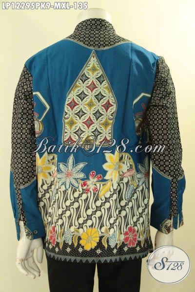 Kemeja Batik Koko Motif Mewah, Baju Batik Kerah Shanghai Lengan Panjang Kekinian Proses Print Bahan Halus Yang Nyaman Di Pakai Hanya 135K [LP12295PK-M]