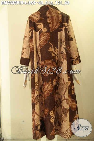 Sedia Gamis Batik Untuk Wanita Muda Dan Dewasa, Baju Gamis Terkini Model Kancing Depan Motif Tren Masa Kini Kwalitas Istimewa, Cocok Juga Untuk Wanita Karir Dan Ibu Rumah Tangga [GM9389PL-L]