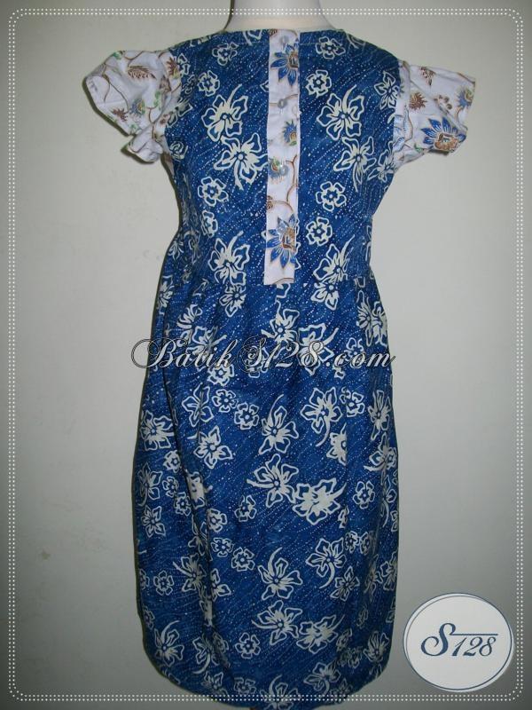 Batik Anak Perempuan Lucu Warna Biru [A001CS]