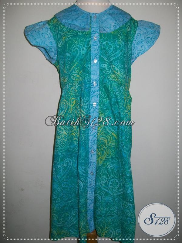 Batik Anak Modern Untuk Perempuan Keren Lengan Pendek [A004CS]