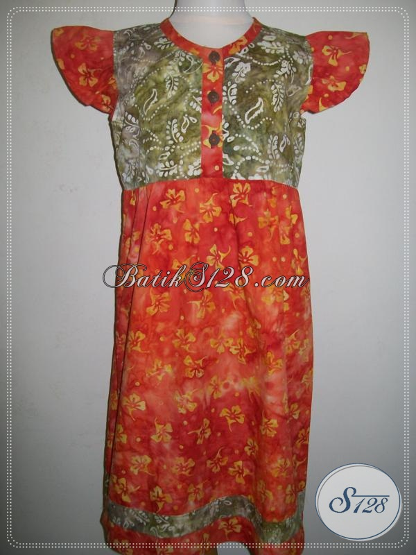Baju Batik Anak Warna Orange Cantik [A023CS]